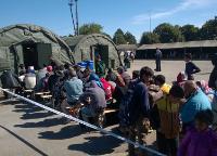 Posjet prihvatnom centru za izbjeglice kod Opatovca