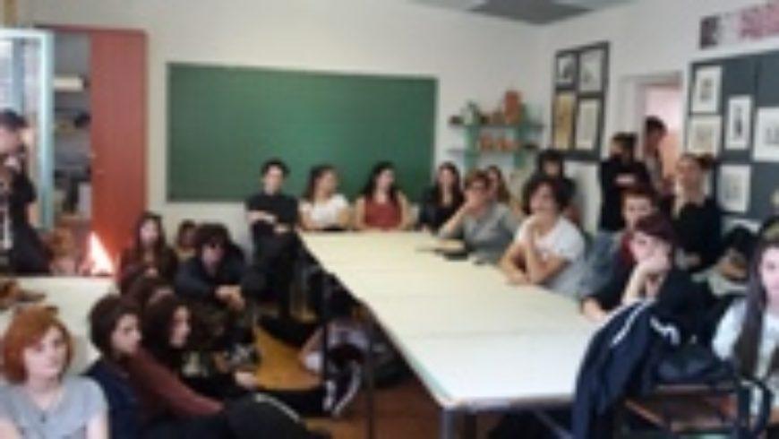 Pravobraniteljica s učenicima Škole za primijenjenu umjetnost u Rijeci