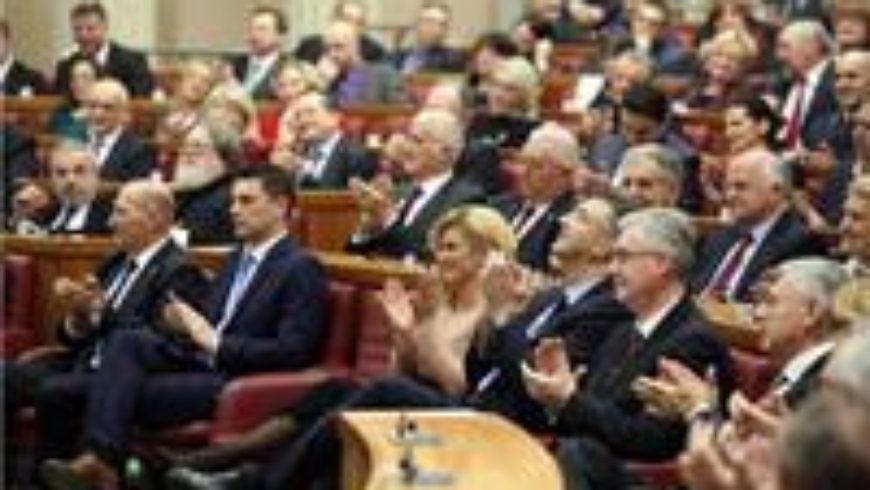 Svečana sjednica Hrvatskoga sabora u povodu 25. obljetnice međunarodnog priznanja Hrvatske
