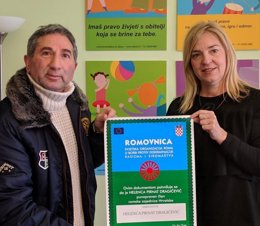 Susret pravobraniteljice s predsjednikom Svjetske organizacije Roma