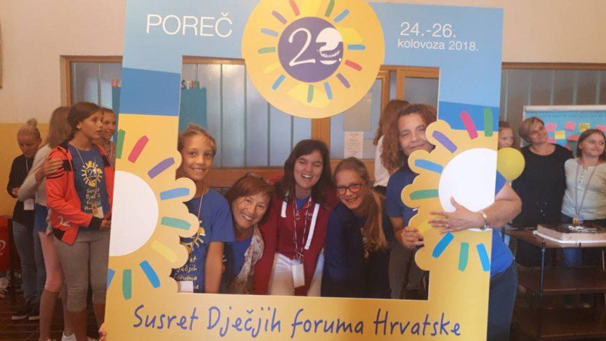 Susret Dječjih foruma Hrvatske u Poreču