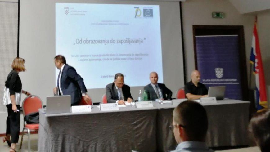 Stručni seminar o obrazovanju i zapošljavanju mladih Roma