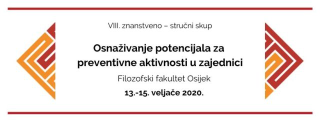 """U Osijeku održan skup """"Osnaživanje potencijala za preventivne aktivnosti u zajednici"""""""