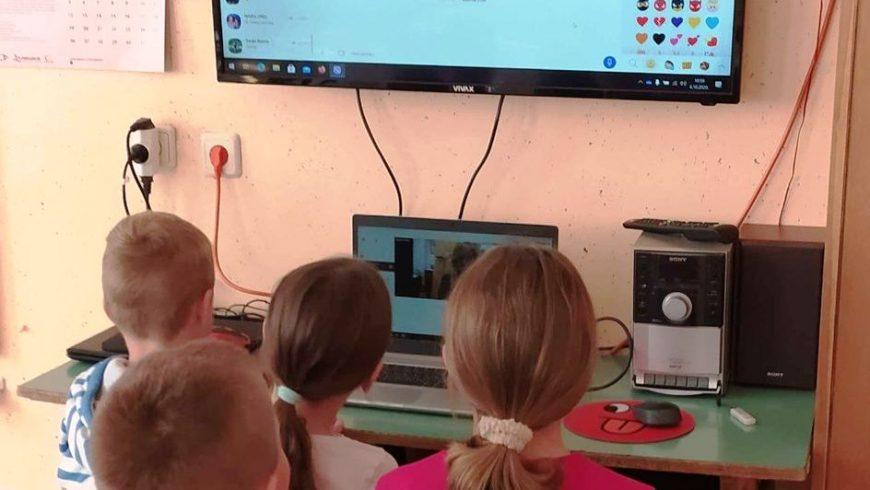 Online druženje s djecom iz Područne škole Lupinjak