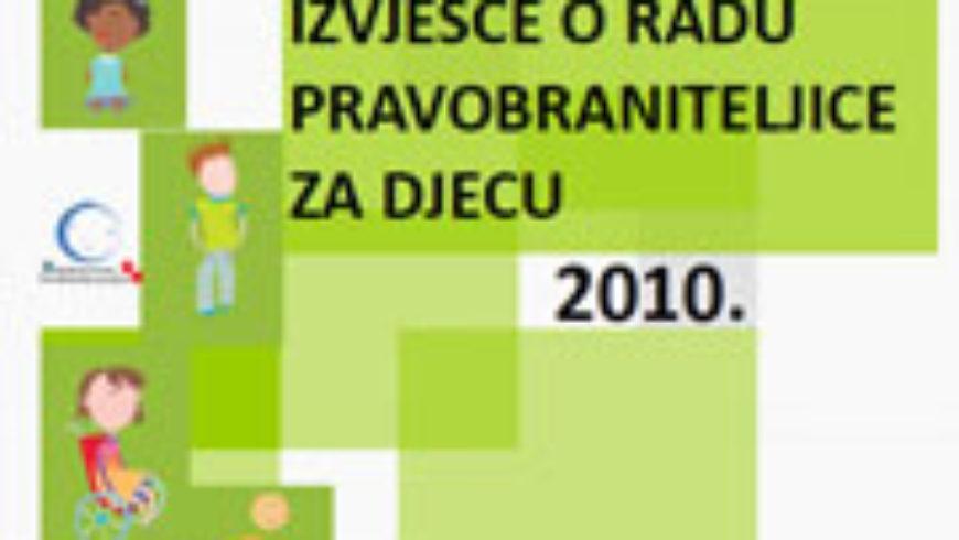 Izvješće pravobraniteljice za djecu za 2010. dobilo potporu zastupnika