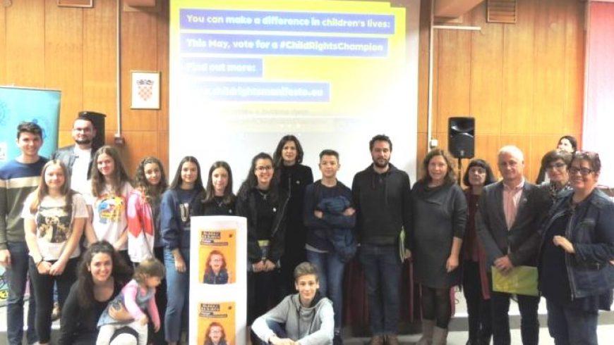 Dječje gradsko vijeće Opatije pozvalo kandidate za EU parlament da postanu Prvaci dječjih prava
