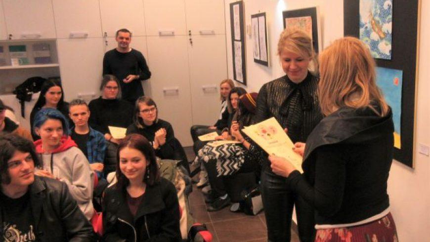 Učenici ŠPUD Osijek i njihovi likovni radovi u Maloj kući dječjih prava u Zagrebu