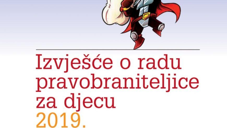 Izvješće o radu pravobraniteljice za djecu u 2019. predano Hrvatskome saboru