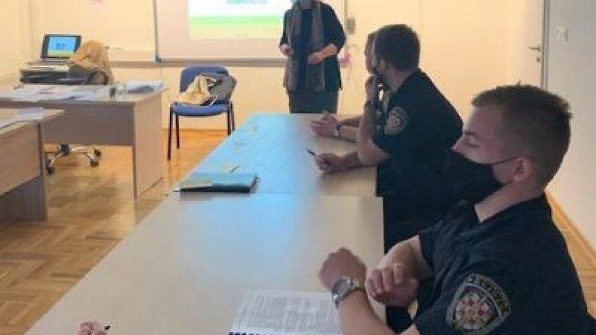 Predavanje i radionica na tečaju za pravosudnu policiju